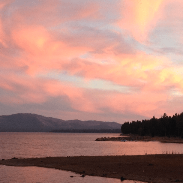 Lake Almanor, California #sunset