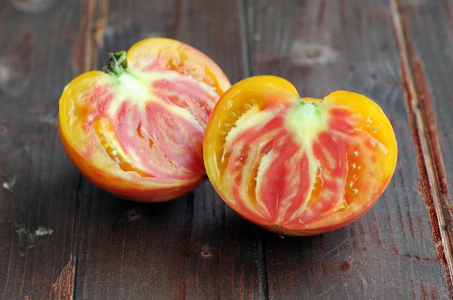 Seared Summer Squash & Heirloom Tomato Salad || HeathersDish.com