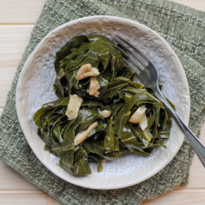 Spicy Garlic Collard Greens