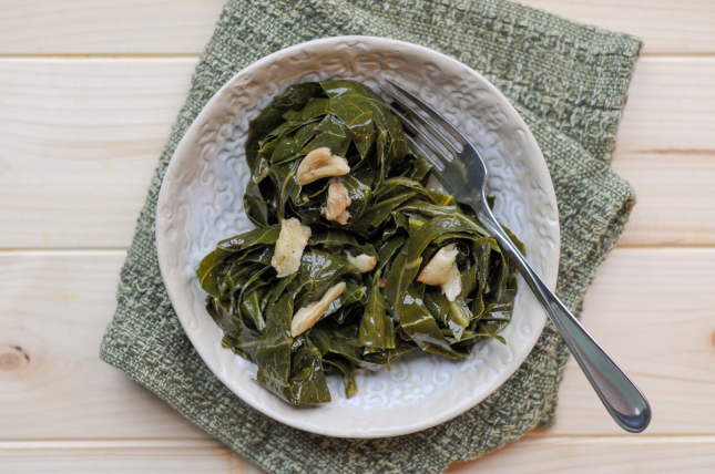 Spicy Garlic Collard Greens are a healthy, beautiful and easy way to get more greens in your diet.