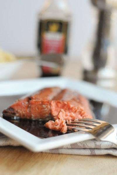 Balsamic-Honey Marinated Salmon