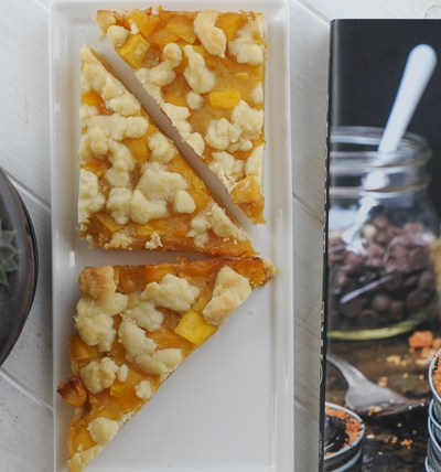 Peach Pie Bars - for TWO!