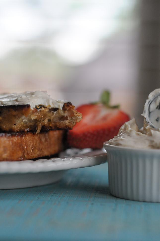 Honey Bourbon Candied Bread || @heathersdish