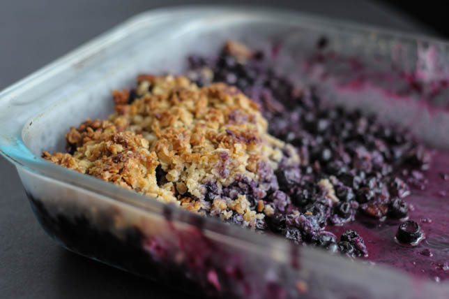 Crazy Good-for-You Blueberry Crisp
