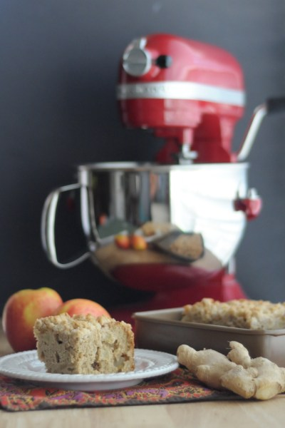 Triple Ginger Apple Streusel Coffee Cake from @kitchenaidUSA and @heathersdish #KitchenAidContest #sponsored