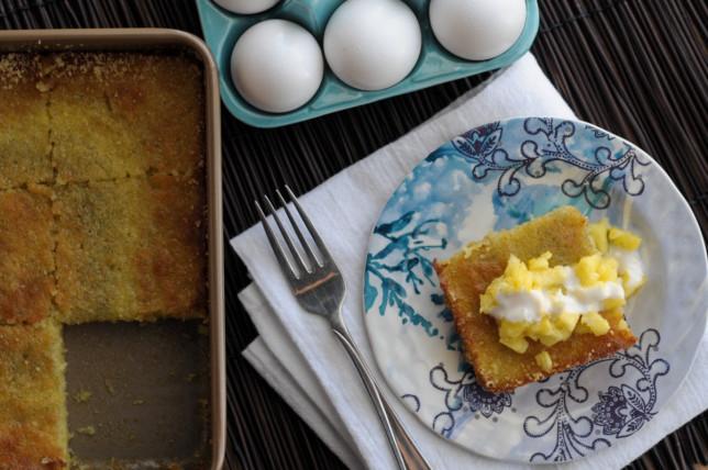 Vanilla Bean Almond Cake || @heathersdish @lonestareggs #glutenfree