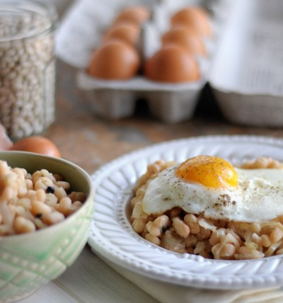 Rustic Beans and Eggs