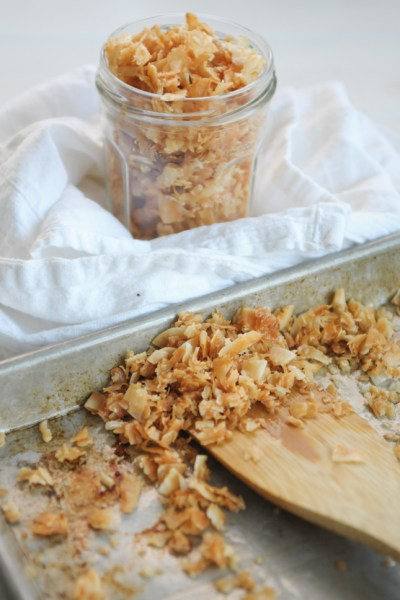 Maple Candied Coconut @heathersdish