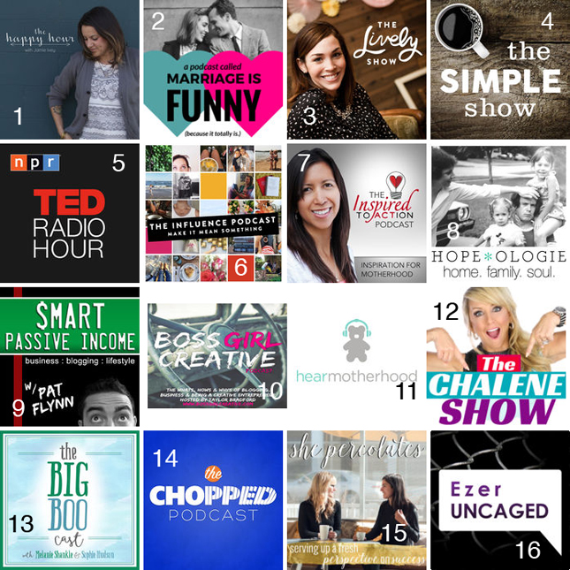 16 amazing podcasts that will change your life in business, family, marriage, faith, motivation and more! @heathersdish #podcast