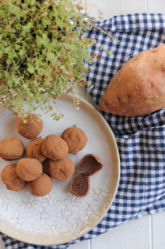 Chocolate Sweet Potato Truffles @tastearkansas @heathersdish