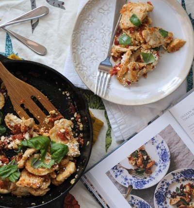 Chicken with Sun-Dried Tomatoes and Feta from @andiemmitchell #eatinginthemiddle