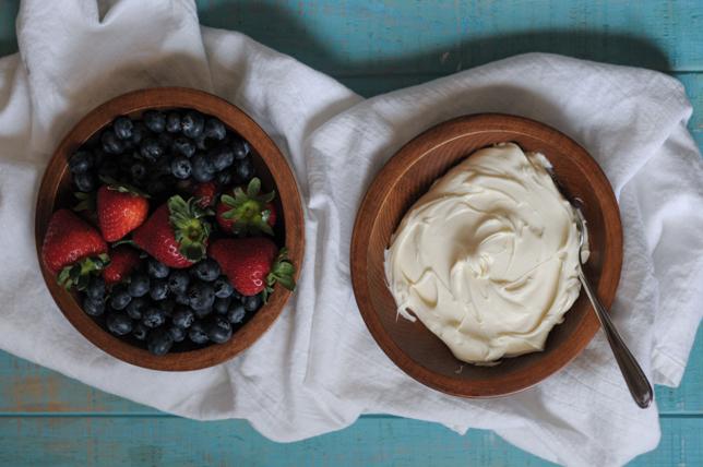 Berries with Maple-Sweetened Mascarpone @heathersdish