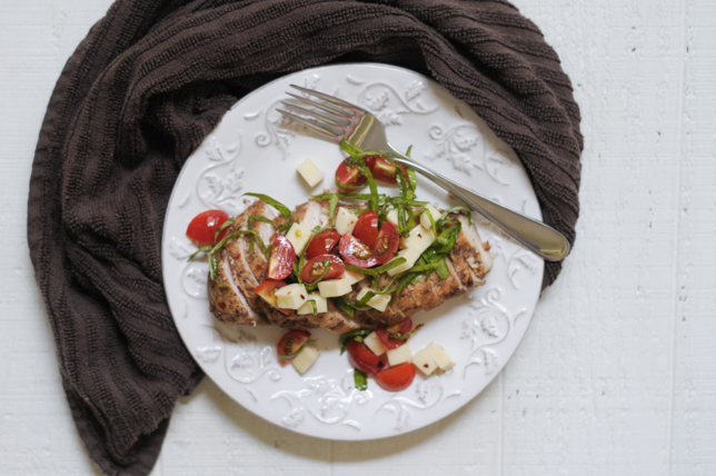 Simple Balsamic Caprese Chicken @heathersdish #healthyeating