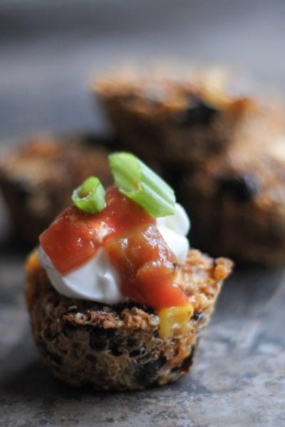 Tex-Mex Quinoa Bites @heathersdish