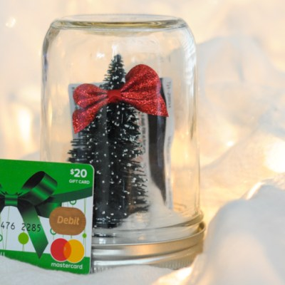 DIY Christmas Gift Card Snowglobes for the Person Who Has Everything