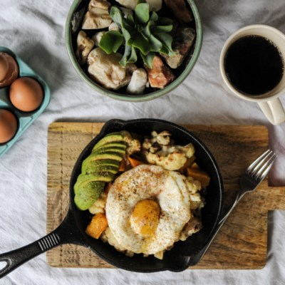 Butternut Squash and Cauliflower Breakfast Power Skillet