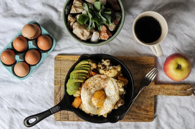 Butternut Squash and Cauliflower Breakfast Power Skillet