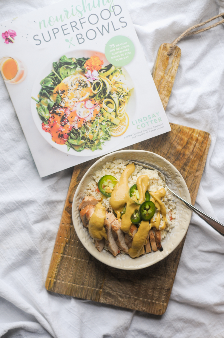 Chili Garlic Cauliflower Risotto Bowls from Nourishing Superfood Bowls @heathersdish @cottercrunch