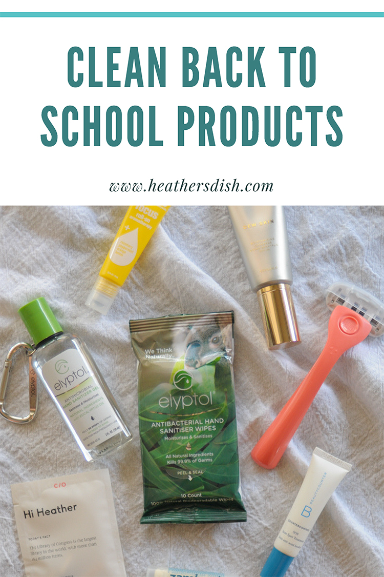 Back-to-School Essentials: Clean Product Edition shares a few things to look out for when shopping for back to school products, plus a few great brands that are safer for this school year! @heathersdish