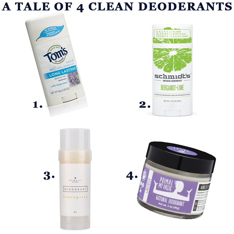 A Tale of 4 Clean Deoderants and What I've Loved (or Not) About Each One #betterbeauty @heathersdish