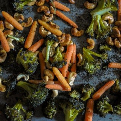 Marinated Sesame Roasted Broccoli is one of the most hands-off and delicious side dishes you could ever have. Get ready to fall in love with broccoli again! @heathersdish