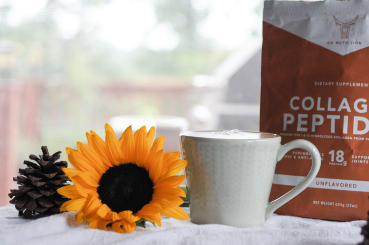 Collagen-Packed Homemade Pumpkin Mocha is the perfect blend of fall flavors packed into a mug of healthy, collagen-packed coffee. This drink will get you moving all season long! @heathersdish @ox_nutrition