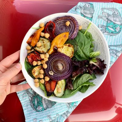 Simple Broiled Vegetable Salad