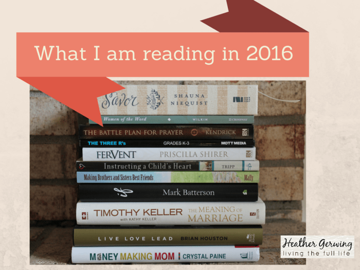 2016 Books I am Reading