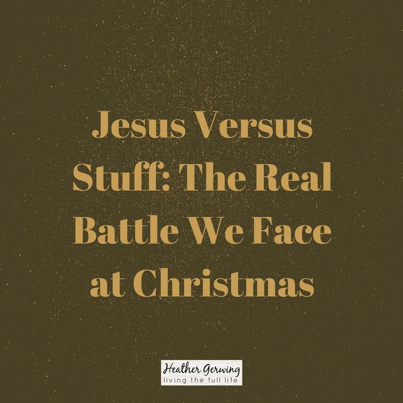 Jesus Versus Stuff