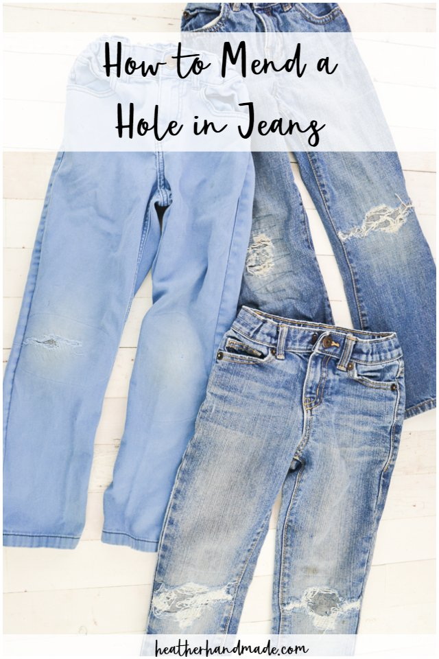 Sewing tutorial: Mending holes in jeans