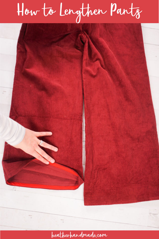 Lengthen Pants Using a Bias Tape Hem - Sewing Tutorial
