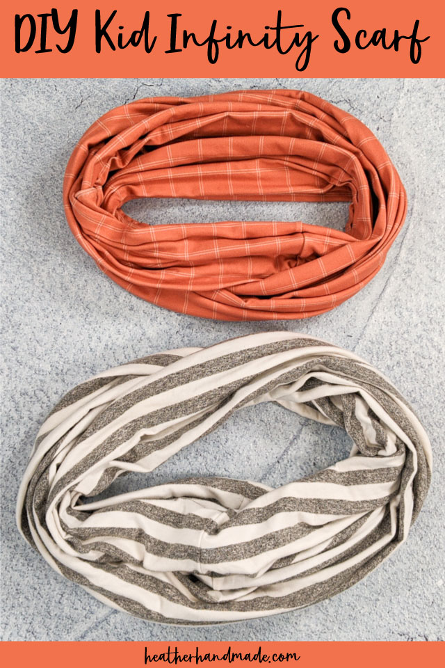 Easy Kid Infinity Scarf - DIY Sewing Tutorial