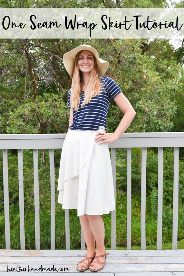 Sewing tutorial: Easy wrap skirt with just one seam