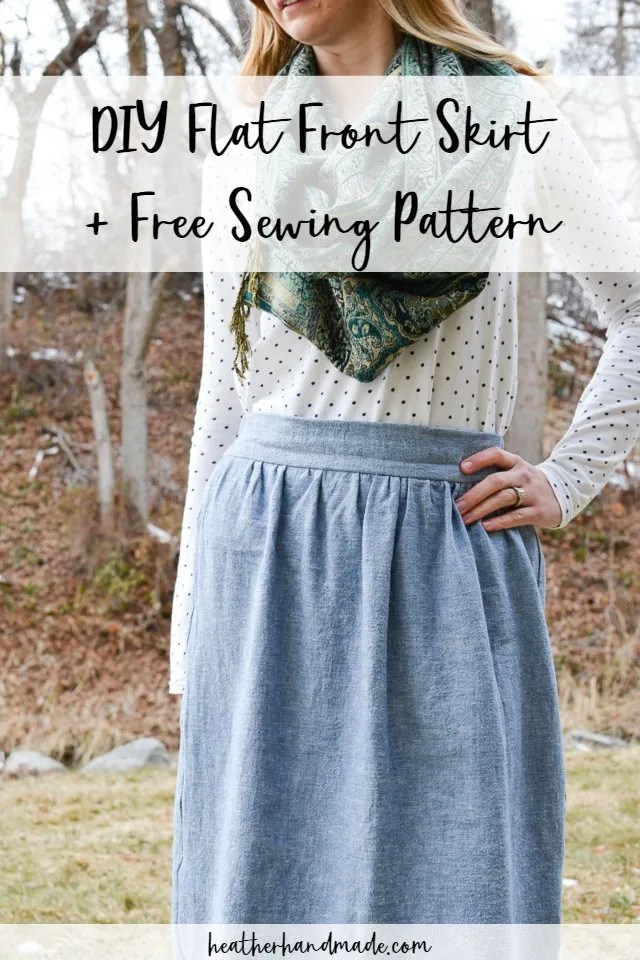 Flat Front Gathered Skirt Sewing Tutorial