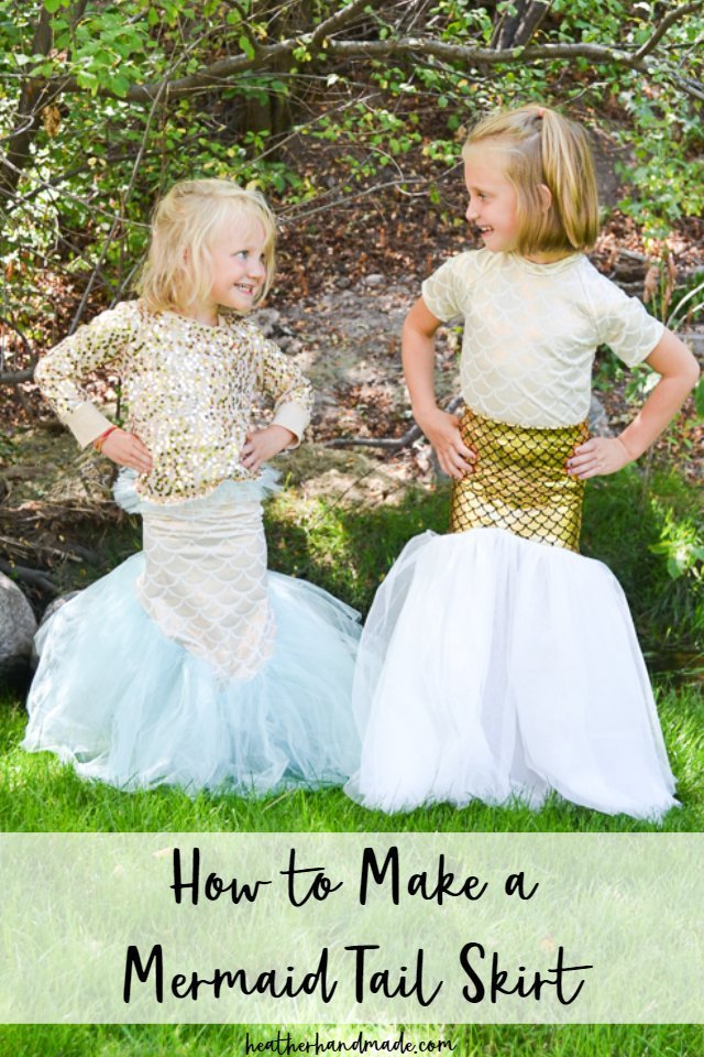 Sewing tutorial: Mermaid tail skirt