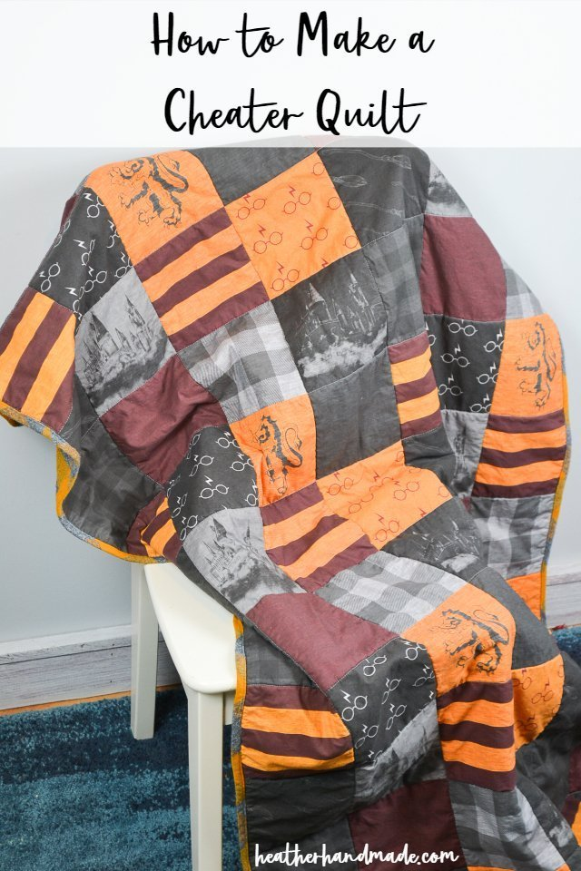 Sewing tutorial: Make a quick cheater quilt
