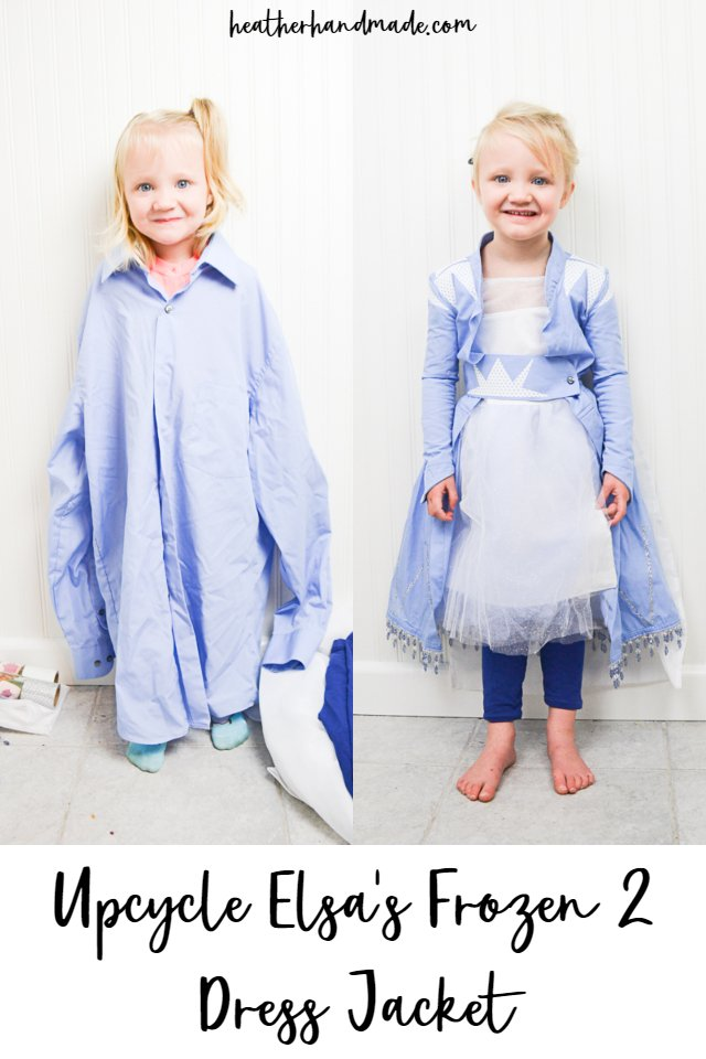 Sewing tutorial: Elsa Frozen 2 jacket from an upcycled shirt