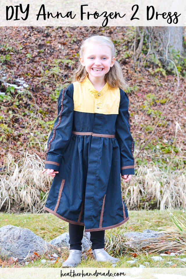 Sewing tutorial: Anna Frozen 2 dress from upcycled shirts