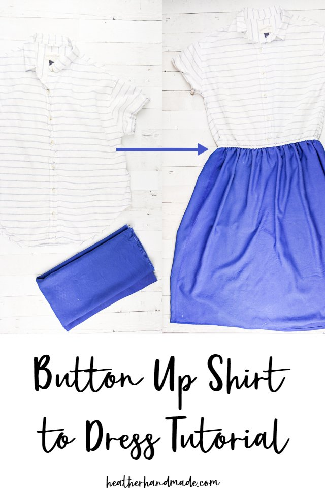 Sewing tutoral: Make a dress from a button up shirt