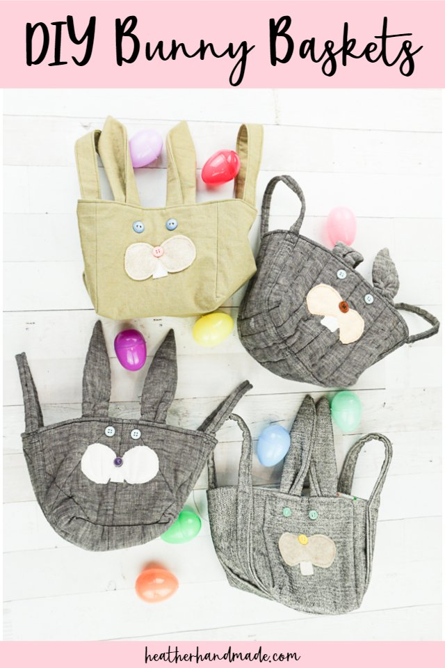 DIY sewing tutorial: Fabric bunny basket