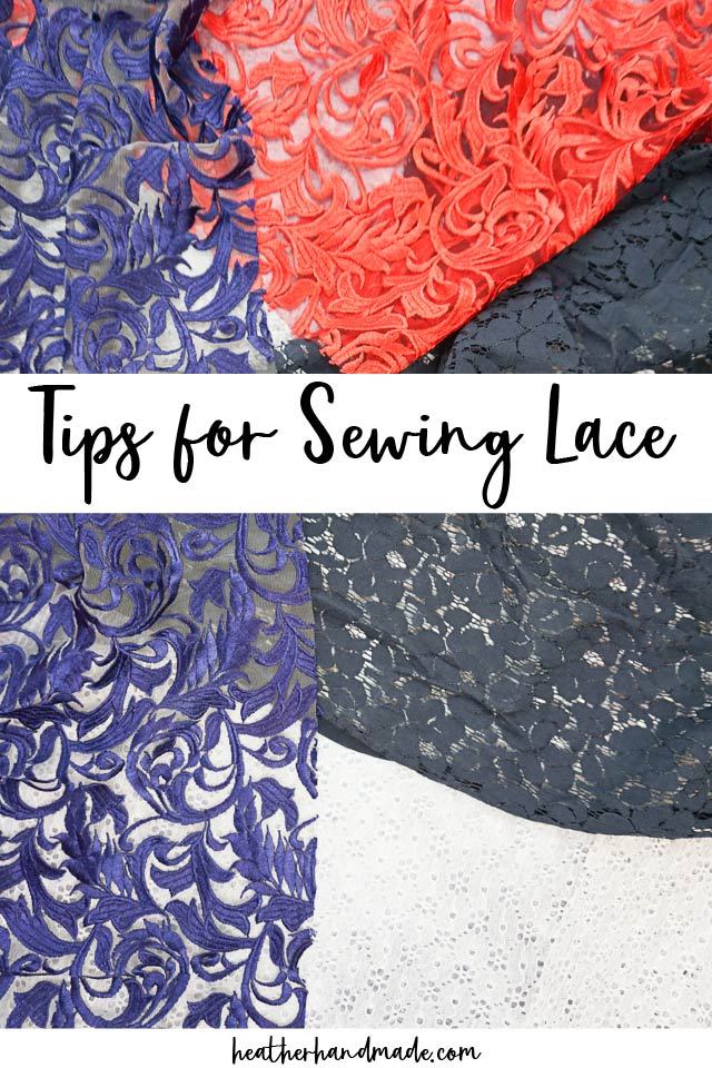 Tips and tricks for sewing lace fabric