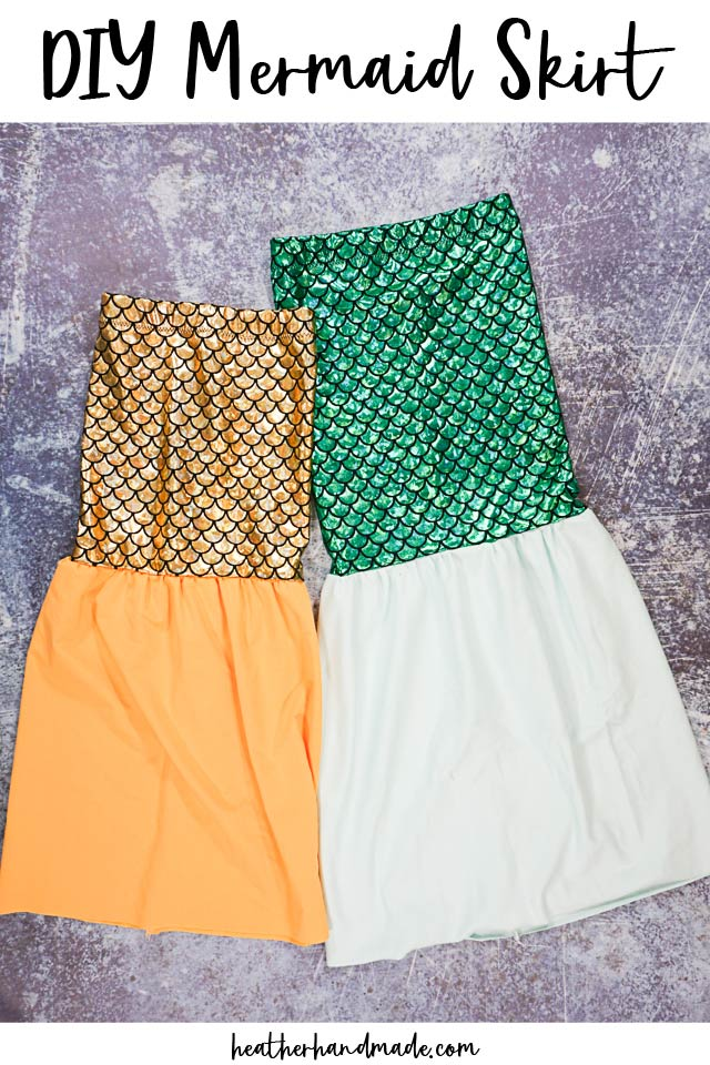 Kids Dress-Up Mermaid Skirt DIY Sewing Tutorial