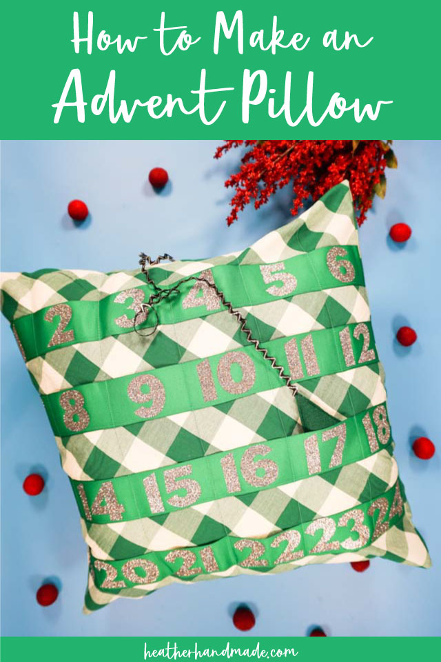 Easy Advent Pillow - DIY Sewing Tutorial