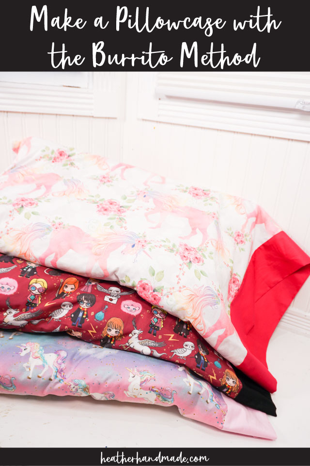Easy Pillowcase with the Burrito Method - DIY Sewing Tutorial