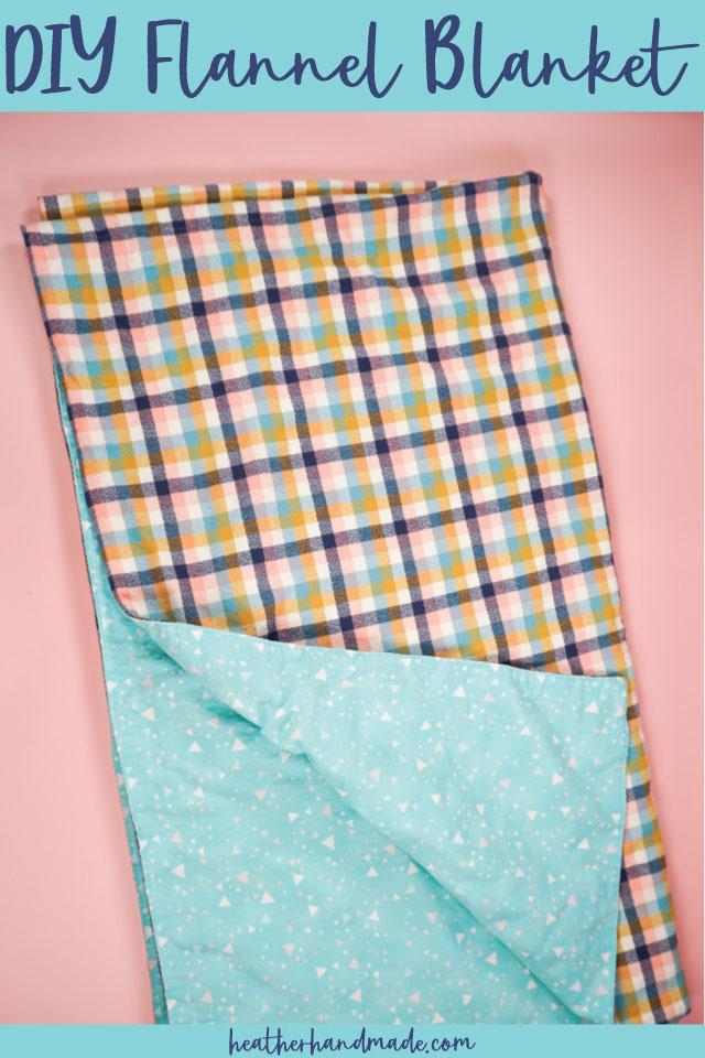 DIY Flannel Throw Blanket - Easy Sewing Tutorial