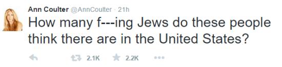 2nd GOP Debate Coulter Jews