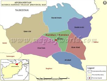 Kunduz www.mapsofworld.com