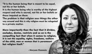 Maryam Namazie on respecting religion