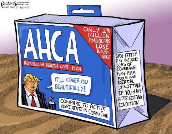 Anti-AHCA Cartoon