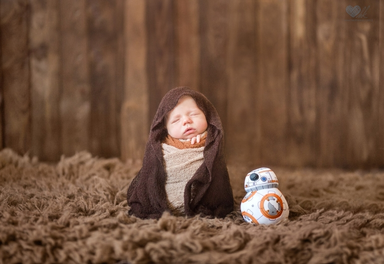 Calvin  Grand Ledge Star Wars Newborn Photographs